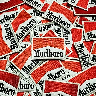 "New Old Stock 2.5"" x 1.75"" Inch Marlboro Racing Logo Patch Patches Free Shipping"