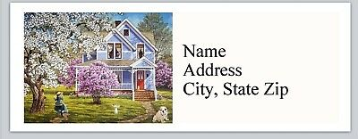 Personalized Address Country Picturesque Cottage Buy 3 get 1 free (bx 913)