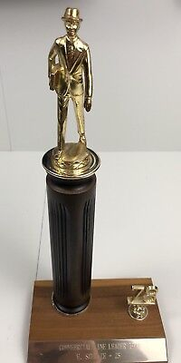 Vintage Car Salesman Trophy 1978 Metal And Wood Made In Janesville Wisconsin