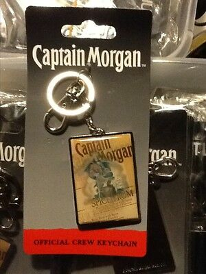 Wholesale lot of 4, Captain Morgan spiced rum heavy key chains, Nice Lot $$$