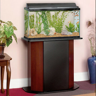 Deluxe 20-29 Gallon Aquarium Stand W/ Concealed Storage Cherry Fish Tank Cabinet