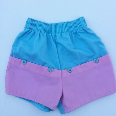 Vintage Pink Blue French Toast Brand Track Shorts 80s 2T