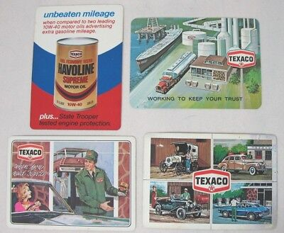 LOT OF 4 Vintage TEXACO Service Oil Co Pocket Calendar Cards 1977-1978-1979-1980
