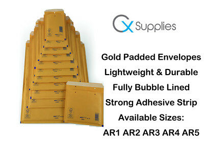 Arofol Genuine Gold Bubble Padded Envelopes Mailers Bags Fragile Ar5 E/2 Lite