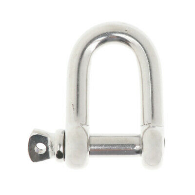Stainless Steel D-Shackle Chain Shackle Rigging Fastener M10-M14