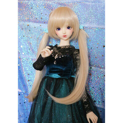 BJD Doll Full Wig 9-10 inch 22-24cm for 1/3 SD DZ DOD LUTS Long Curly Hair