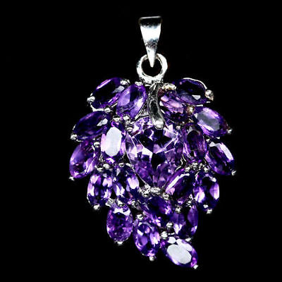Delightful Natural Purple Amethyst 925 Sterling Silver Pendant