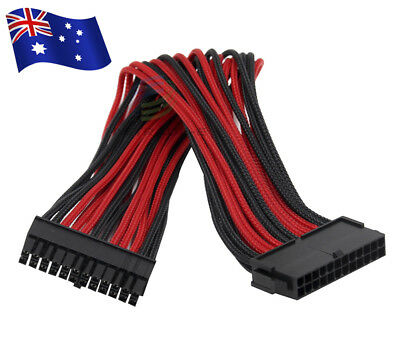 24 Pin Male to 24 Pin Female Internal PC Motherboard Power Extension Cable 32cm