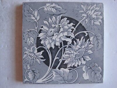 Antique Victorian Transfer Print Wall Tile C1862-1904 Brown Westhead Moore ?