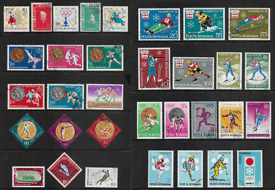 ROMANIA mixed collection No.41, Sport, Summer & Winter Olympics, CTO