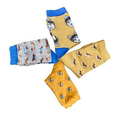 1 Pair of Women Cute Dachshund Dog Sock Combed Cotton Crew Animal Sock w~-