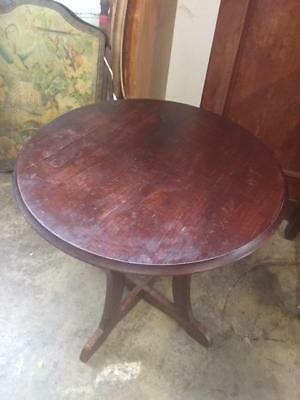 E28020 Vintage Round Deco Occasional Side Table