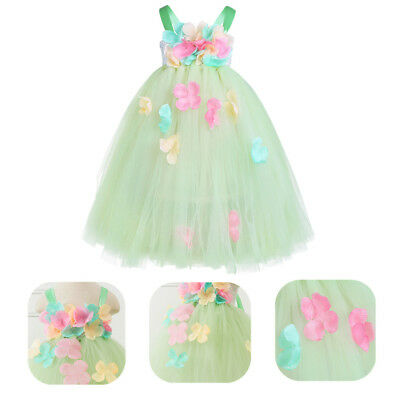 Flower Girls Petals Tutu Dress Princess Wedding Bridesmaid Pageant Christening