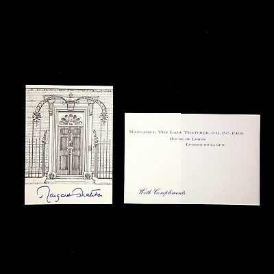 Margaret Thatcher Prime Minister Of Great Britain Signed Bookplate