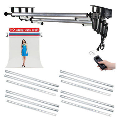 AU Studio 4 Roller Motorized Background Support Stand + 4X 3M Metal Crossbar