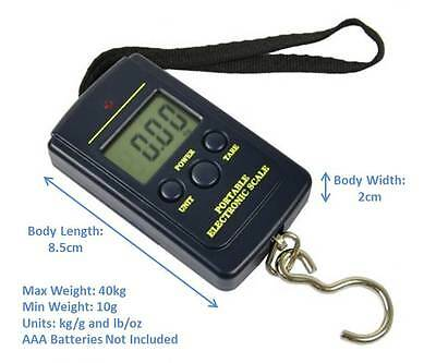 Portable Electronic Digital Weigh Scale Measures Weight Weighing Travel Luggage