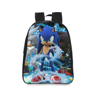 InterestPrint Custom Child Backpack Sonic The Hedgehog Kids School Bag(Large)