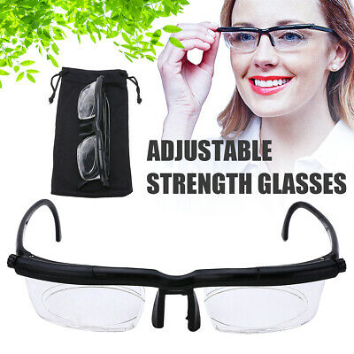Adjustable Strength Lens Reading Glasses Eyewear Variable Focus Distant Vision