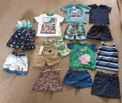3a389c67ec1 Boys summer Clothes Bundle 18-24 Months Peppa George BNWT Shorts Next H M  London