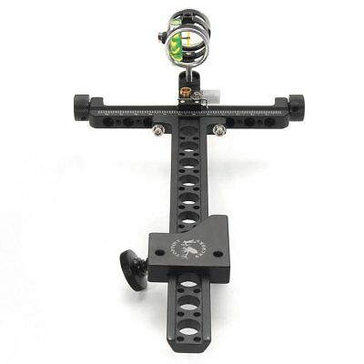 Archery Compound Bow Sight 1 Pin 0.059'' Micro Adjustable Hunting Target