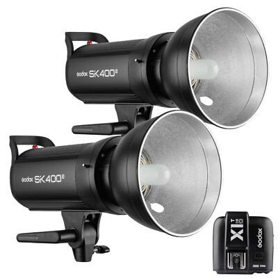 2X Godox SK400II 400W 2.4G Flash Strobe Light+ X1T-O Transmitter fr Olympus 220V