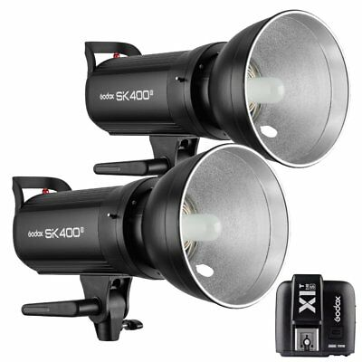 2X Godox SK400II 400W 2.4G Flash Strobe Light + X1T-S Transmitter for Sony 220V