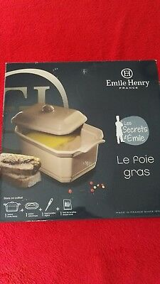 Emile Henry Le Foie Gras Terrine With Press And Lid NWB