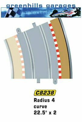 Greenhills Scalextric Radius 4 Curve Outer Borders & Barriers x 4 C8238 - BNI...