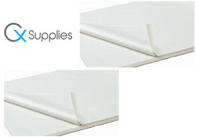100 SHEETS OF WHITE COLOURED ACID FREE WRAPPING TISSUE PAPER 450x700mm 18GSM