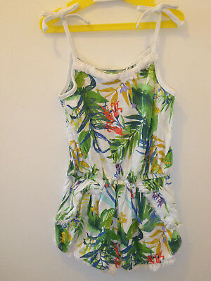 Next - Lovely Girls BOTANICAL All In One Jumpsuit SUMMER Playsuit 3 Years VGC