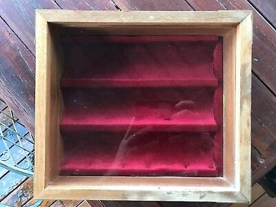 Wooden Wine Box Holder Display Case Glass Fronted For 3 Bottles PickUp Only Melb