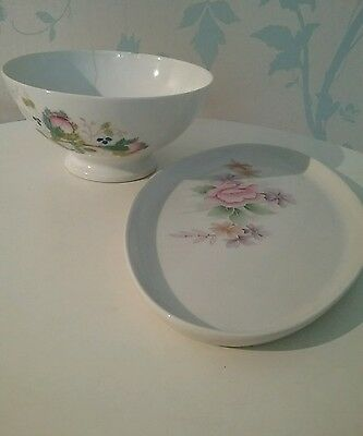 French Vintage Coffee Bowl And Sidedish