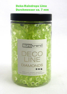 Deko - Raindrops Diamonds, lime ca. 230 g