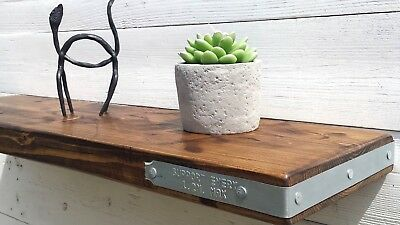 Scaffold Band Chunky Rustic Solid pine wood INDUSTRIAL Mantel Floating shelf D22