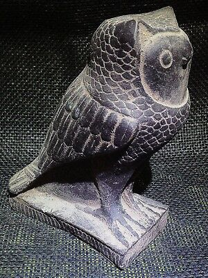 EGYPTIAN ARTIFACT ANTIQUITIES Pharaoh Eagle Owl Statue 3100-2686 BC