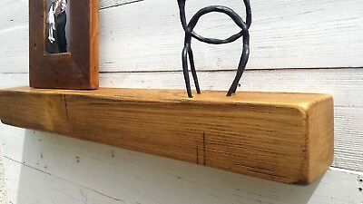 Rustic Mantel Shelf Solid Pine Wood BEAM 4''x4'' Windowsill Mantle Mantelpiece