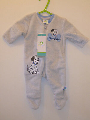 DISNEY Baby Boys Warm 101 Dalmations Sleepsuit Playsuit Outfit Romper 3-6 Months