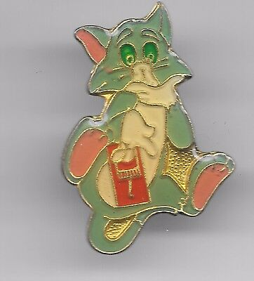 Vintage Tom the Cat of  Tom and Jerry Warner Bros Cartoon old enamel pin