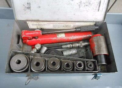 """RIDGID HYDRAULIC KNOCKOUT HOLE PUNCH SET 1/2"""" - 3"""", Draw Bolts, Spacers & CASE"""