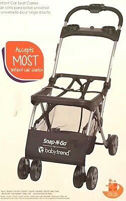 NEW Baby Trend Snap N Go EX Universal Infant Car Seat Carrier W Large Storage