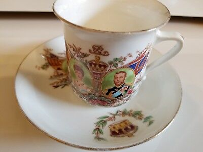 Rare  King George V & Queen Mary Cup & Saucer   Porcelain