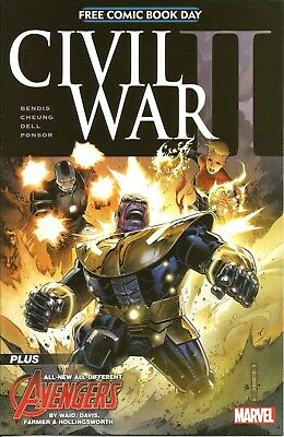 Civil War Ii / Free Comic Book Day / Thanos / Marvel Comics / May 2016 / V/g