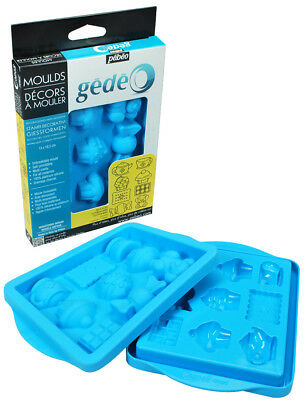 Pebeo Gedeo Silicone Moulds for Resin, Plaster, Chocolate, Sugarcraft, Fimo Clay
