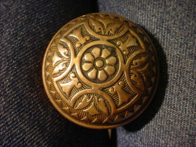 Pr. Antique  Aesthetic Movement Brass Doorknobs