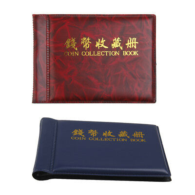 2pcs Coin Album Pocket Wallet Currency Penny Coin Display 60 Holder 10 Pages