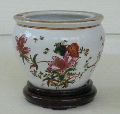 porcelain cachepot wood stand chinese quality reproduction planter jardiniere