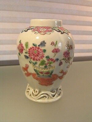 Chinese Export Porcelain Tea Caddy Famille Rose Qianlong Period 18th c