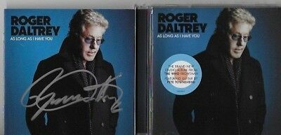AUTOGRAPHED Signed CD Booklet Roger Daltrey of The Who As Long As I Have You CD