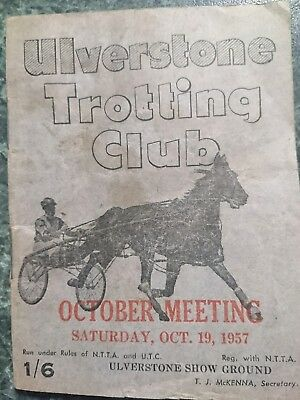 1957 Ulverstone Trotting Club Race Book (TULLOCH CAULFIELD CUP )