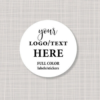Custom Personalized Full Color Round Circle Logo Labels Stickers 1""
